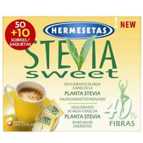 HERMESETAS STEVIA 50+10BUST