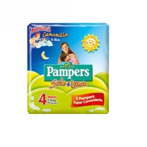 PANNOLINO PER BAMBINO PAMPERS SOLE & LUNA MAXI 18 PEZZI